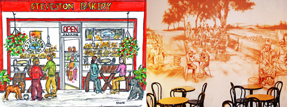 Steveston Bakery from an Artist's Perspective