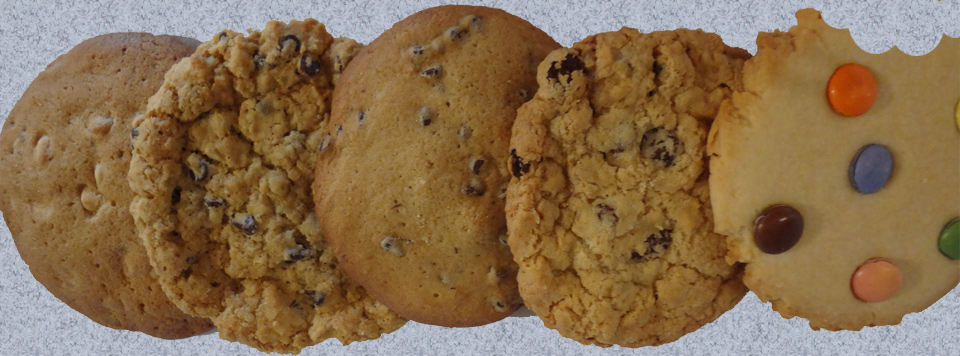 Your favourite cookies baked daily