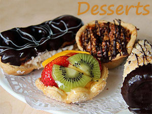 Desserts at Steveston Bakery