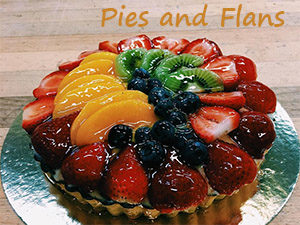 Pies and Flan at Steveston Bakery