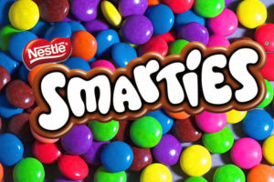 We use Nestle Smarties in Steveston Bakery Smarties Cookies