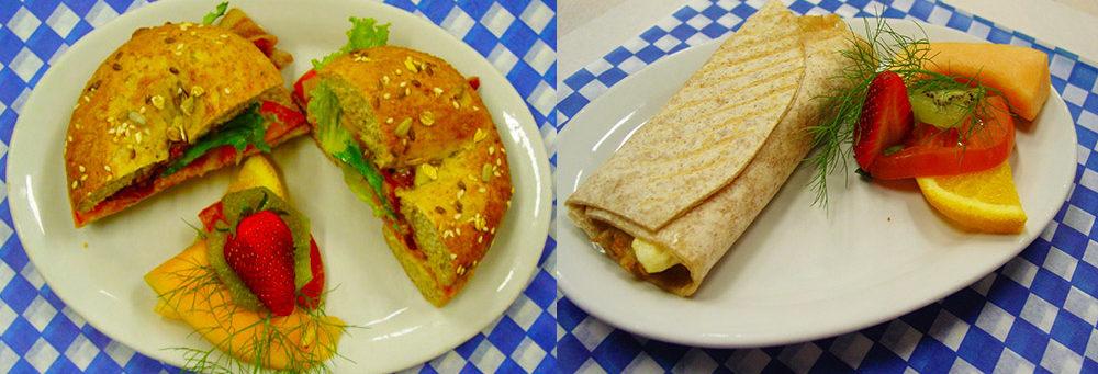 Menu Breakfast Bagel and Breakfast Wrap at Steveston Bakery