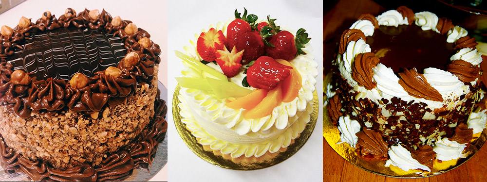 Hazelnut Chocolate Cake, Fruit Cocktail Cake, and Custom Tuxedo Cake ~ Cakes, Cheesecakes, Fruit Flans