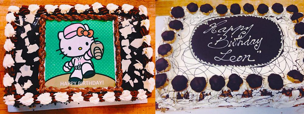 Hello Kitty Tuxedo Cake and 12 x 16 St. Honore cake