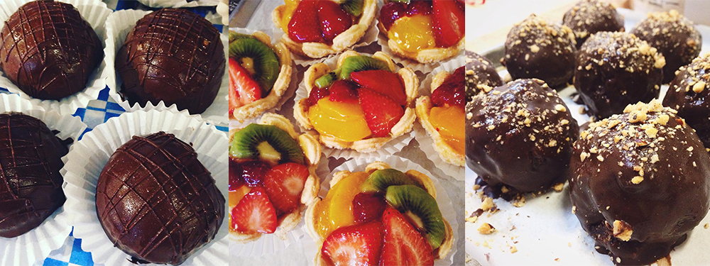 Desserts ~ Rum Balls, Fresh Fruit Tarts, and Hazelnut Truffes