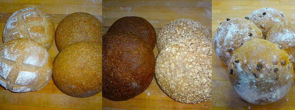 Yeast Free Regular, Flax, Finnish Rye, Multigrain, & Raisin Cranberry