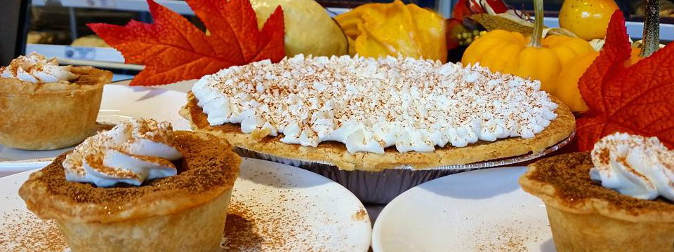 Pumpkin Pie or Pumpkin Tarts at Steveston Bakery